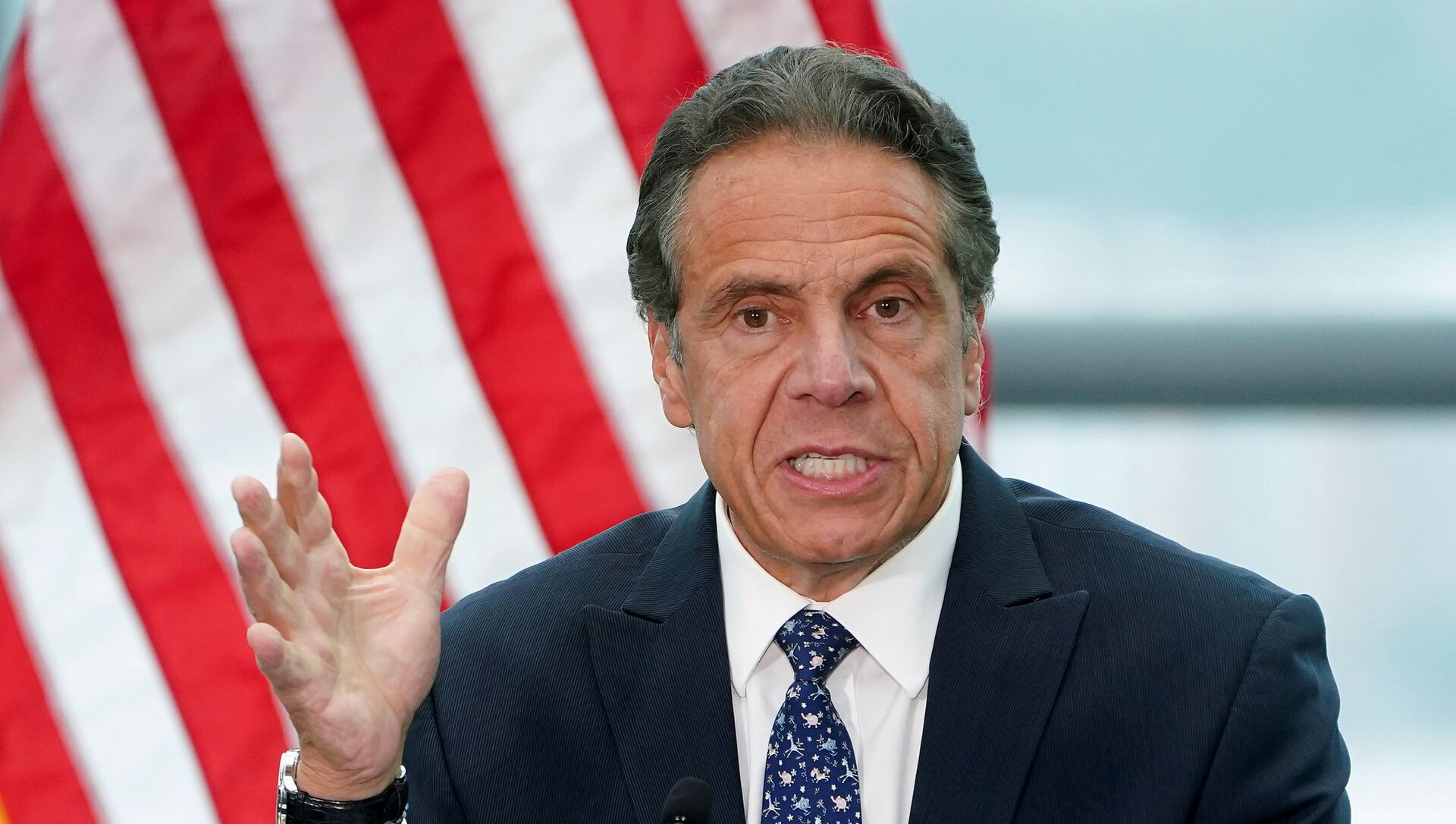 New York Governor Andrew Cuomo gives a press conference in the Manhattan borough of New York City, New York, U.S., June 2, 2021 - Sputnik International, 1920, 04.08.2021