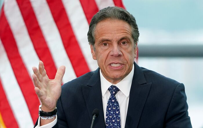 New York Governor Andrew Cuomo gives a press conference in the Manhattan borough of New York City, New York, U.S., June 2, 2021
