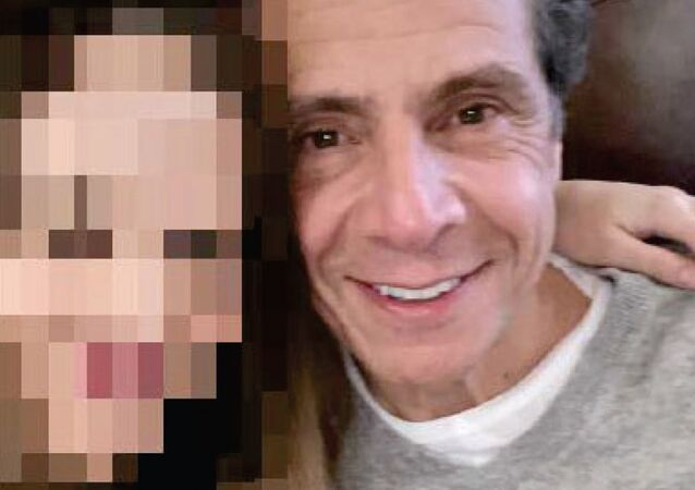 Andrew Cuomo pictured with Executive Assistant #1