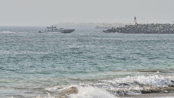 An Emirati Coast Guard vessel patrols off Fujairah, United Arab Emirates, Wednesday, Aug. 4, 2021.  - Sputnik International
