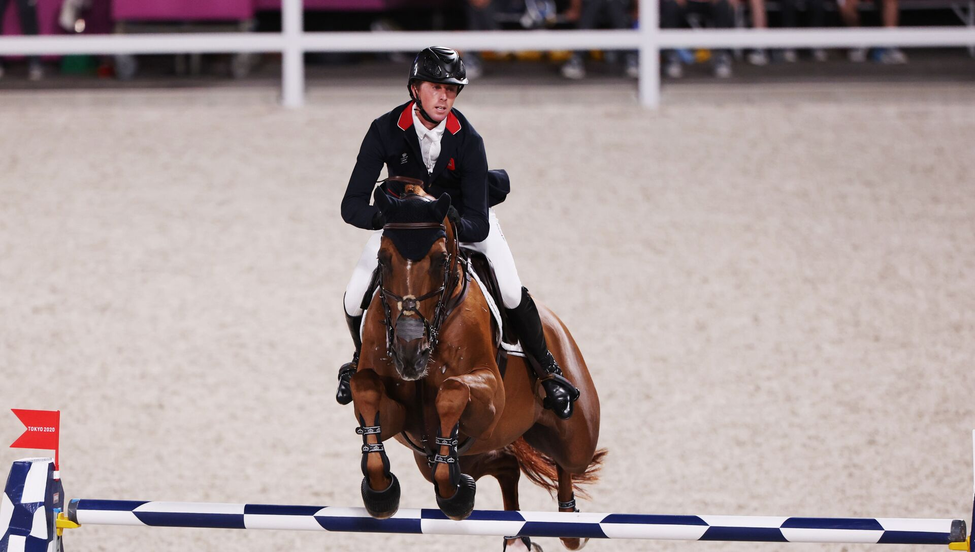 Tokyo 2020 Olympics - Equestrian - Jumping - Individual - Final - Equestrian Park - Tokyo, Japan - August 4, 2021. Ben Maher of Britain on his horse Explosion W competes - Sputnik International, 1920, 04.08.2021