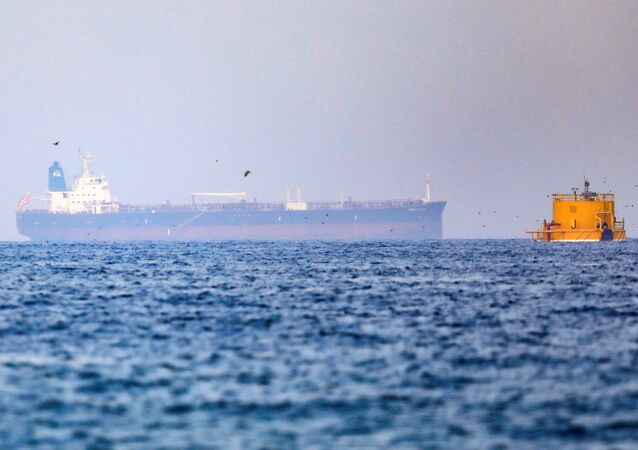 Mercer Street, an Israeli-managed oil tanker that was attacked off the coast of Oman, is seen near Fujairah Port in United Arab Emirates, August 3, 2021.