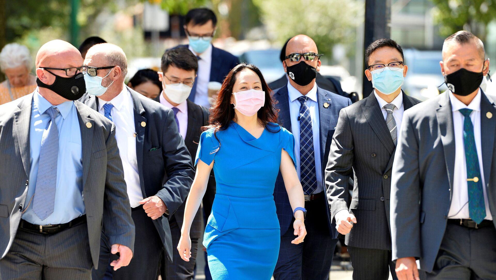 Huawei Technologies Chief Financial Officer Meng Wanzhou returns to court following a break in Vancouver, British Columbia, Canada, August 4, 2021. REUTERS/Jennifer Gauthier - Sputnik International, 1920, 05.08.2021