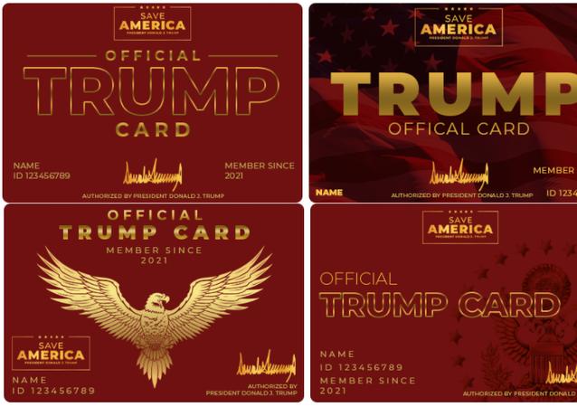 'Official Trump Card' designs.