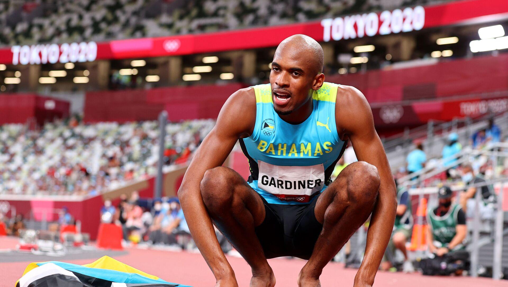 Gold medallist Steven Gardiner of the Bahamas reacts after the final  - Sputnik International, 1920, 05.08.2021