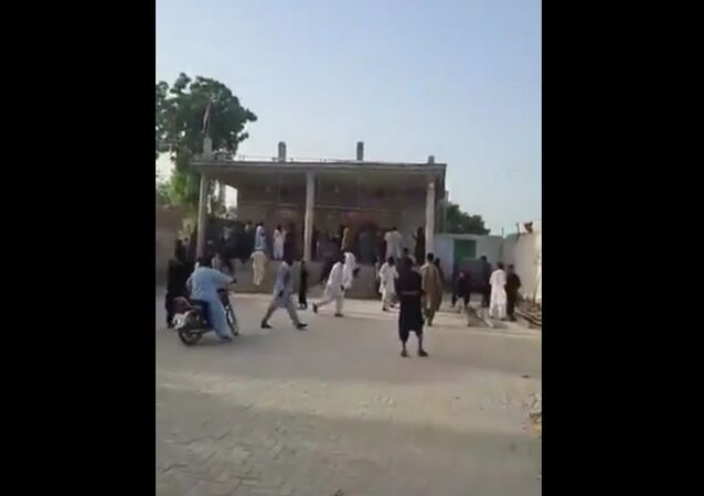 A Hindu temple attacked in Pakistan's Punjab Province
