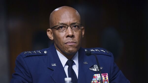In this May 7, 2020, file photo Charles Q. Brown, Jr., nominated for reappointment to the grade of General and to Chief of Staff of the U.S. Air Force, testifies during a Senate Armed Services Committee nominations hearing on Capitol Hill in Washington. - Sputnik International