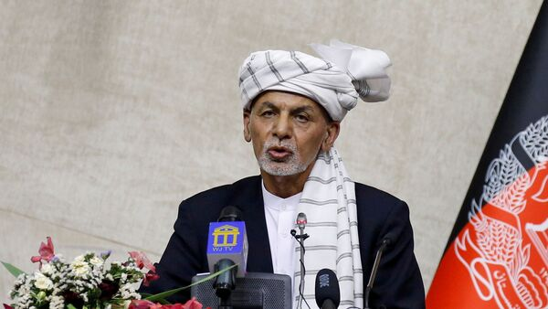 Afghan President Ashraf Ghani speaks at the parliament in Kabul, Afghanistan August 2, 2021 - Sputnik International