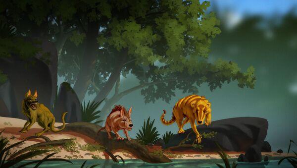Left to right, artist depictions of Conacodon hettingeri, Miniconus jeanninae, Beornus honeyi - Sputnik International