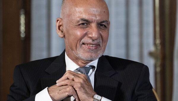 FILE In this June 25, 2021 file photo, Afghan President Ashraf Ghani is seated after his meeting with President Joe Biden in Washington - Sputnik International