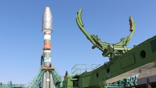 Installation of the Soyuz-2.1b launch vehicle with the Fregat upper stage at the launch pad No. 31 of the Baikonur cosmodrome. - Sputnik International