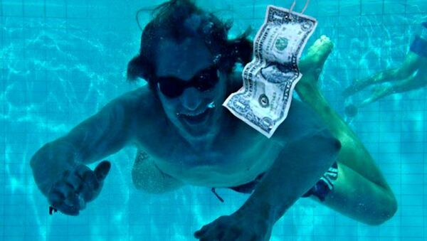 A spoof of the famous cover of Nirvana's 1991 album Nevermind (then with Spencer Elden as the model) - Sputnik International