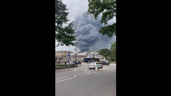 Fire in Royal Leamington Spa. - Sputnik International