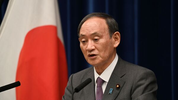 Japan's Prime Minister Yoshihide Suga speaks during a news conference at the prime minister's office, amid the coronavirus disease (COVID-19) pandemic, in Tokyo, Japan August 25, 2021.  - Sputnik International