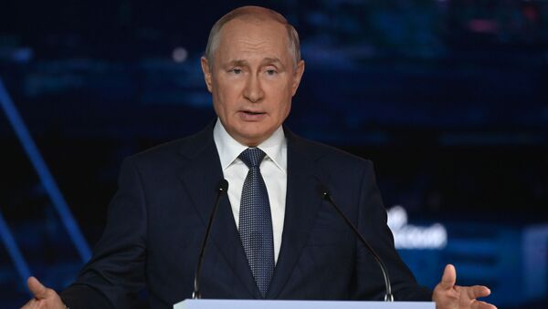 Russian President Vladimir Putin at the Eastern Economic Forum in Vladivostok - Sputnik International
