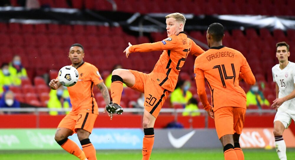 Soccer Football - World Cup Qualifiers Europe - Group G - Netherlands v Latvia - Amsterdam Arena, Amsterdam, Netherlands - March 27, 2021 Netherlands' Donny van de Beek in action