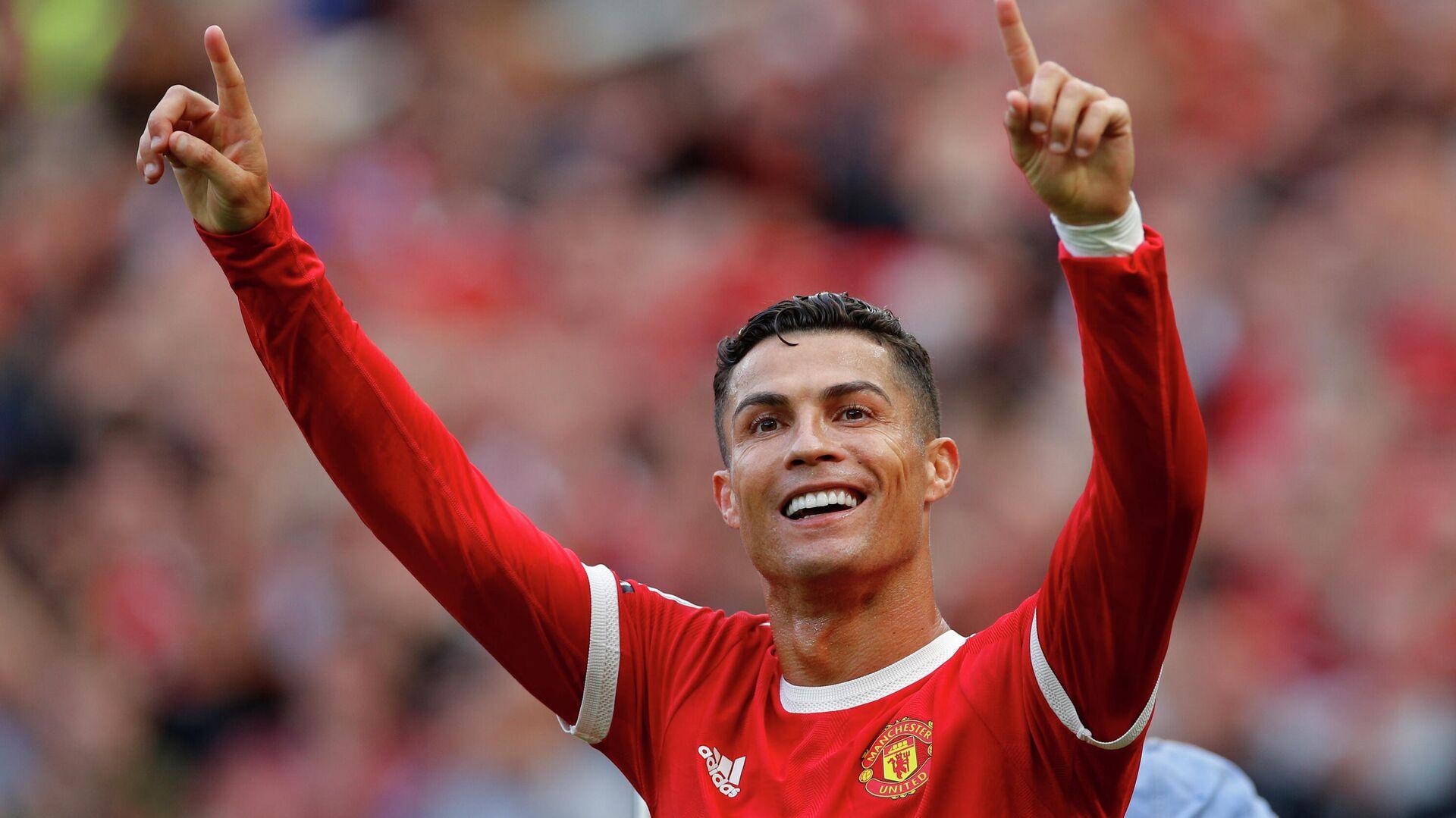 Manchester United's Cristiano Ronaldo celebrates scoring their second goal  - Sputnik International, 1920, 12.09.2021