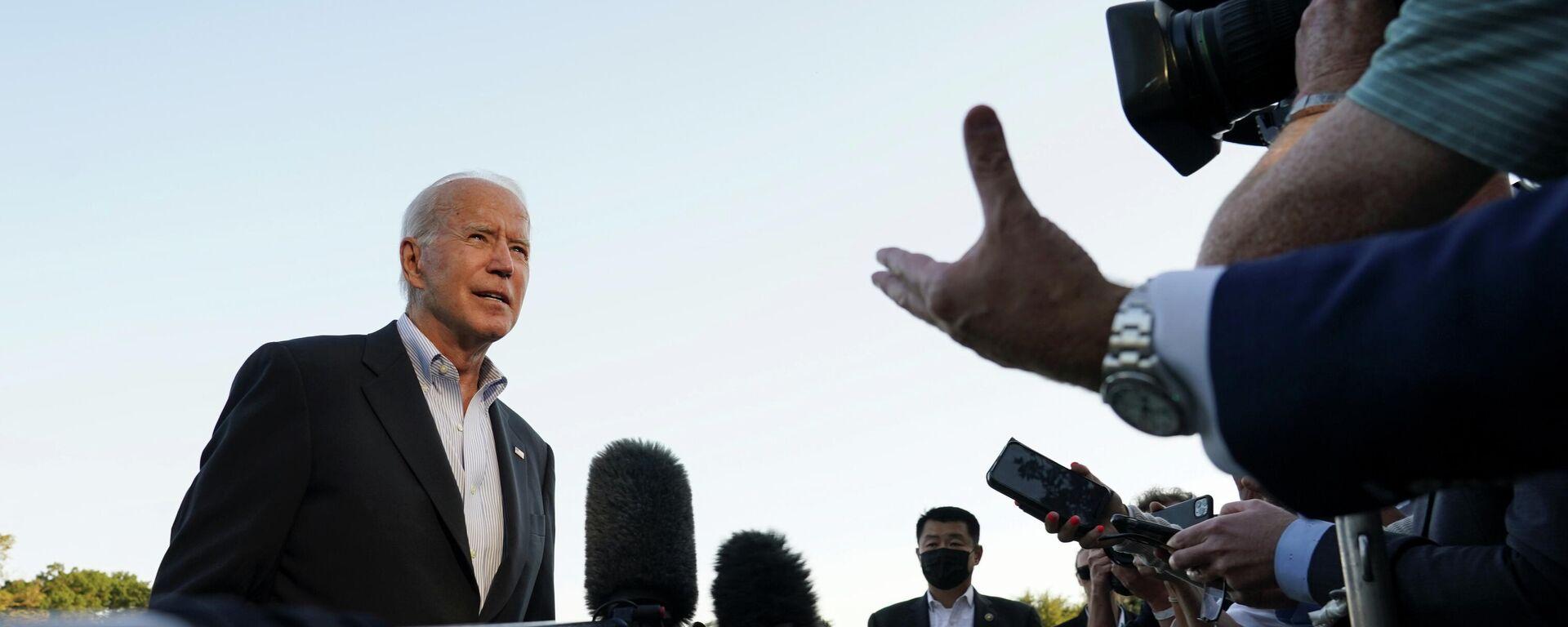U.S. President Joe Biden speaks to reporters upon his return to the White House in Washington, U.S., September 7, 2021.  - Sputnik International, 1920, 12.09.2021