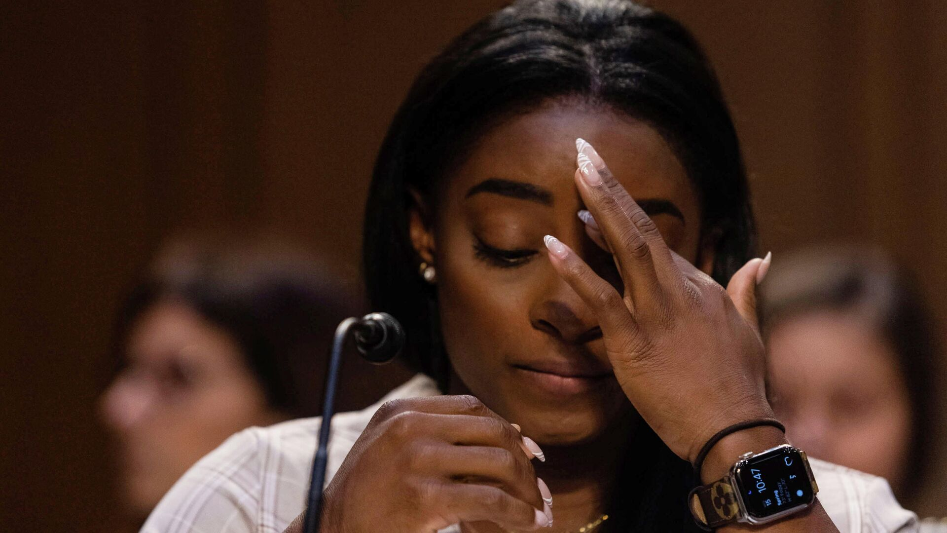 U.S. Olympic gymnast Simone Biles testifies during a Senate Judiciary hearing about the Inspector General's report on the FBI handling of the Larry Nassar investigation of sexual abuse of Olympic gymnasts, on Capitol Hill, in Washington, D.C., U.S. - Sputnik International, 1920, 15.09.2021