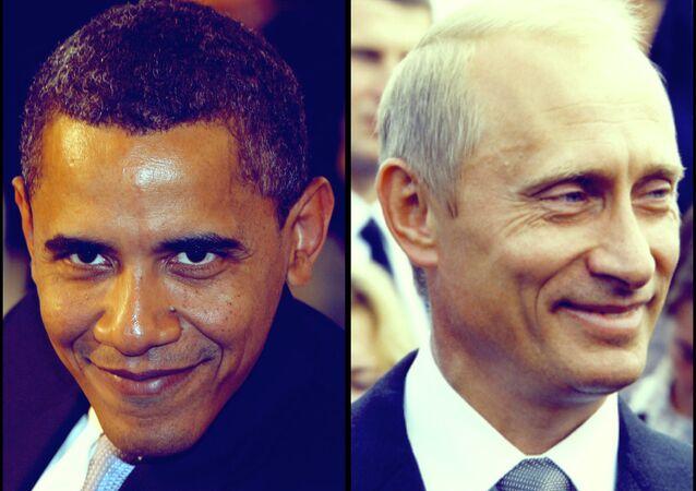 US President Barak Obama, Russian President Vladimir Putin