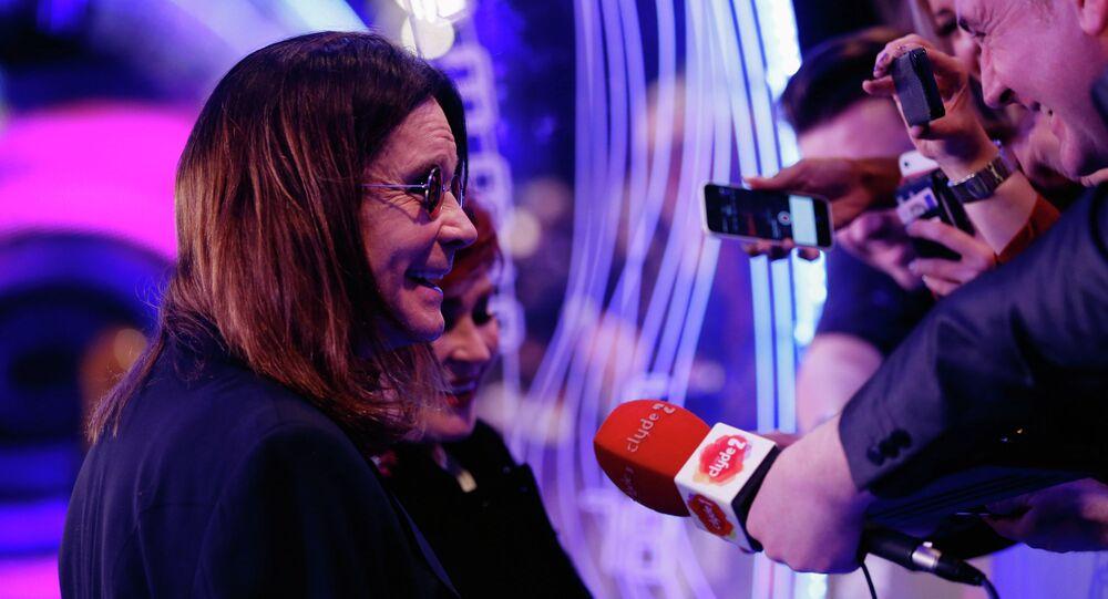 Ozzy Osbourne at the ceremony of MTV Europe Music Awards - 2014