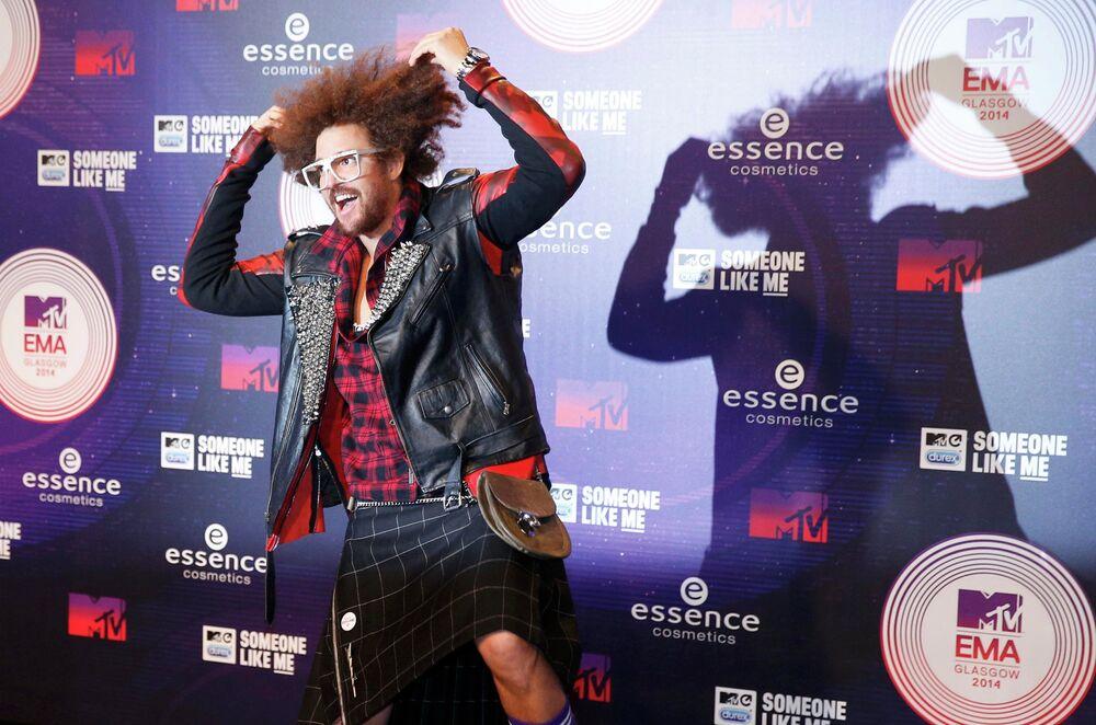 Singer Redfu before the ceremony of MTV Europe Music Awards - 2014