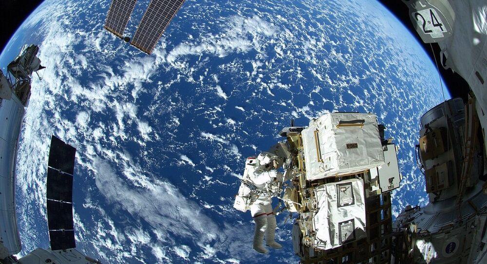 Spacewalker Astronaut Reid Wiseman