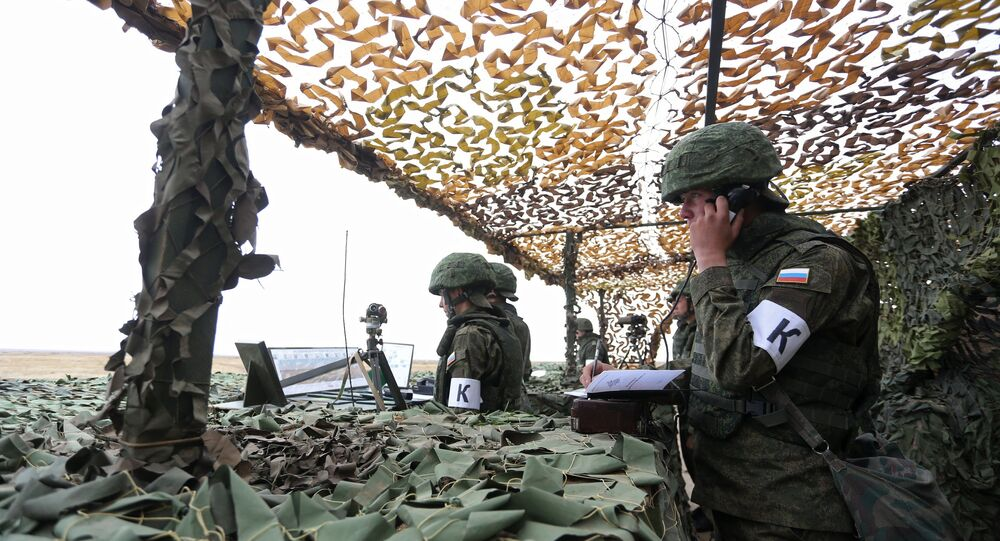 Russian servicemen during the Indra-2014 Russian-Indian joint drill