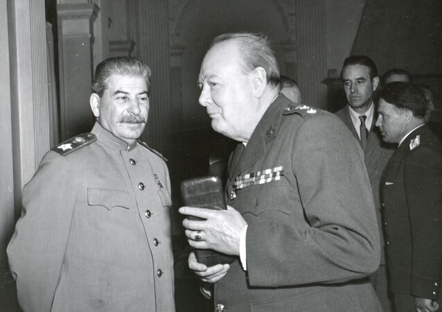 1945, Yalta - Joseph Stalin And Winston Churchill At The Yalta Conference