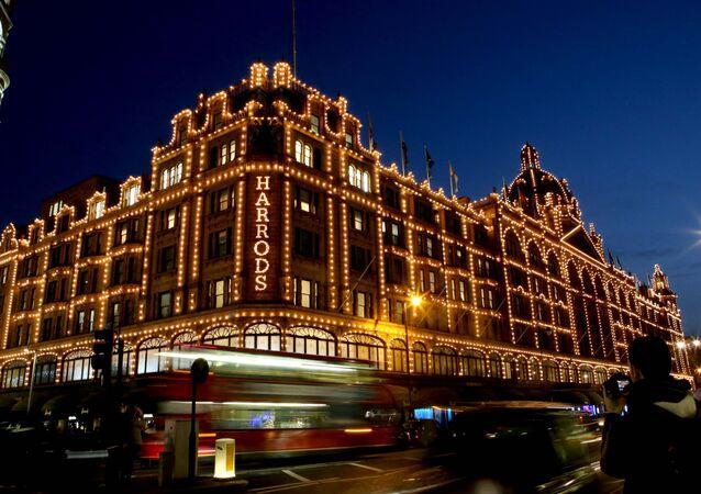 Harrods christmas lights, London
