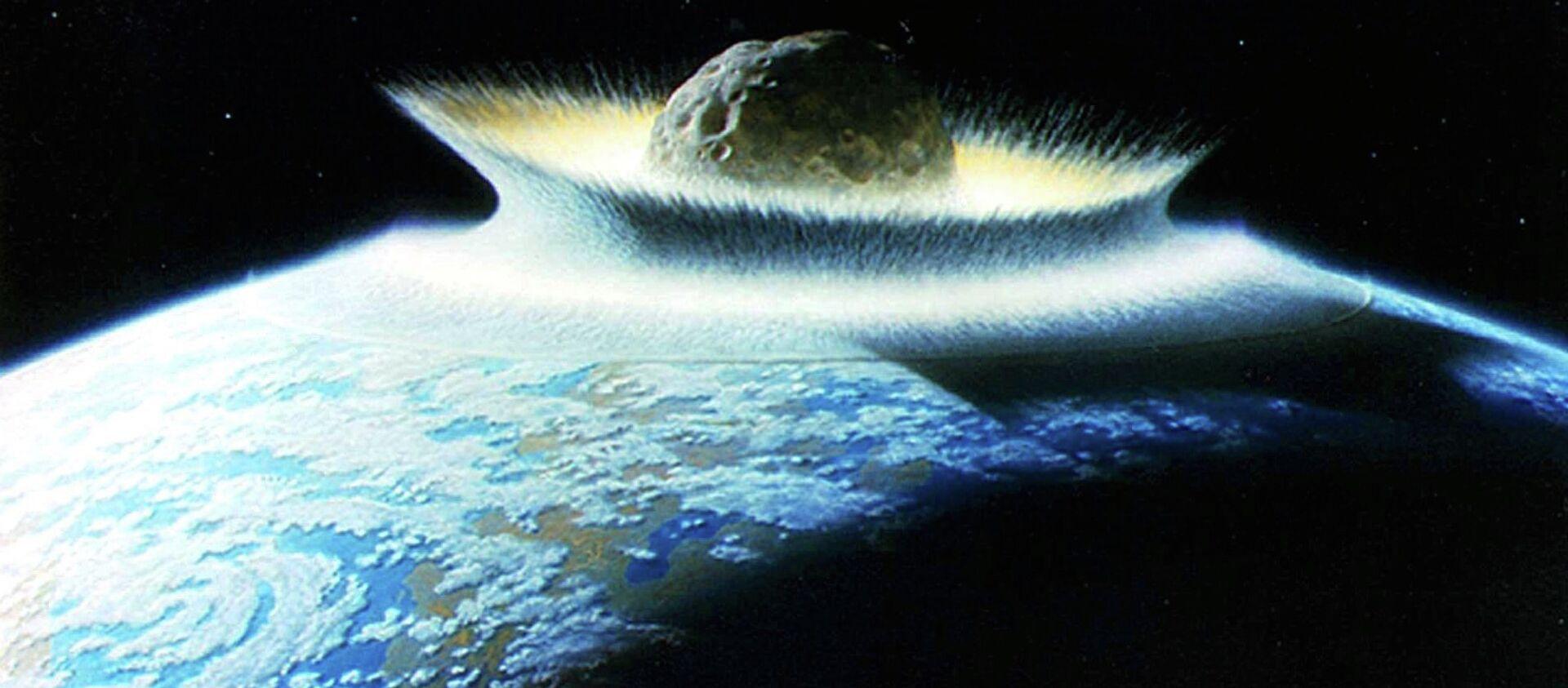 Artist's impression of an asteroid hitting Earth - Sputnik International, 1920, 21.07.2021