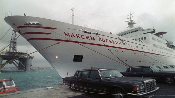 Maxim Gorky cruise ship, where the historic meeting took place, is docked in Malta - Sputnik International
