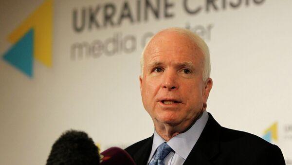 U.S. Sen. John McCain speaks during a press conference in Kiev, Ukraine - Sputnik International