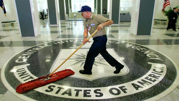 In this 2005 file photo, a workman slides a dustmop over the floor at the Central Intelligence Agency headquarters in Langley, Va., near Washington - Sputnik International