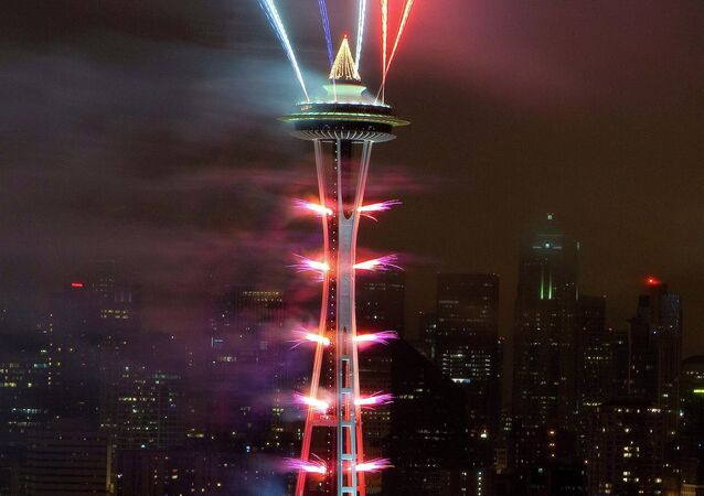 New Year celebrations in Seattle, America