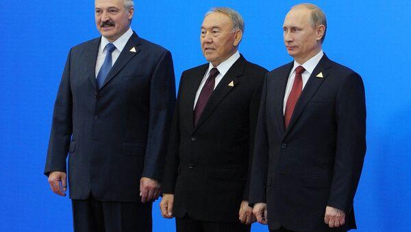 Lukashenko, Nazarbayev and Putin create the Eurasian Economic Union - Sputnik International