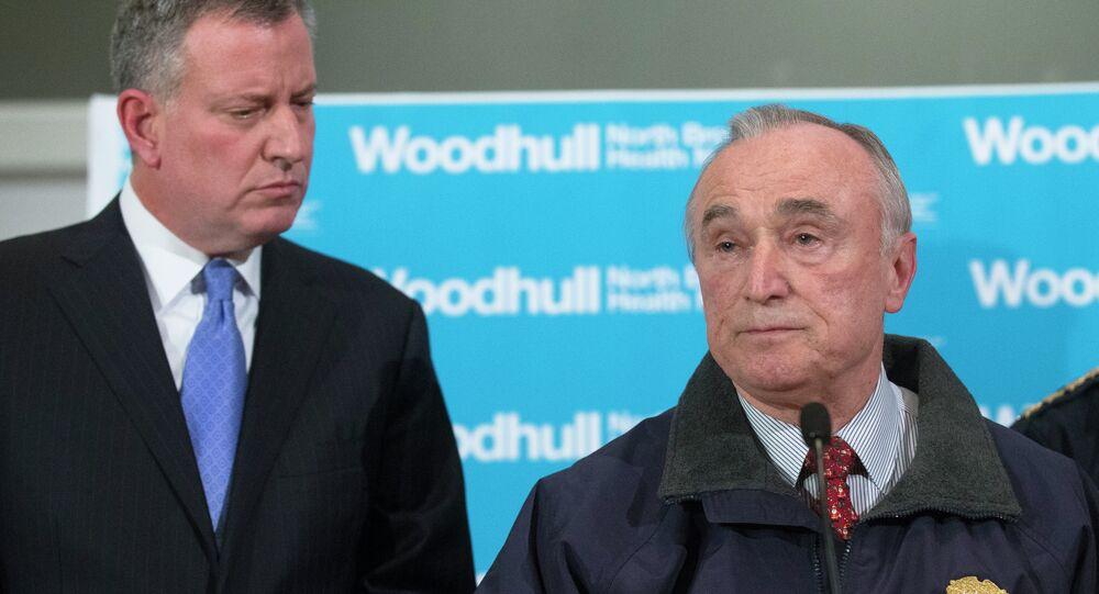Mayor Bill de Blasio and NYPD Commissioner Bill Bratton.