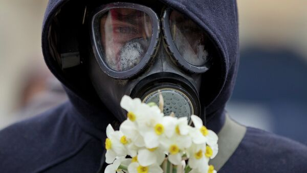 An anti-fracking demonstrator - Sputnik International