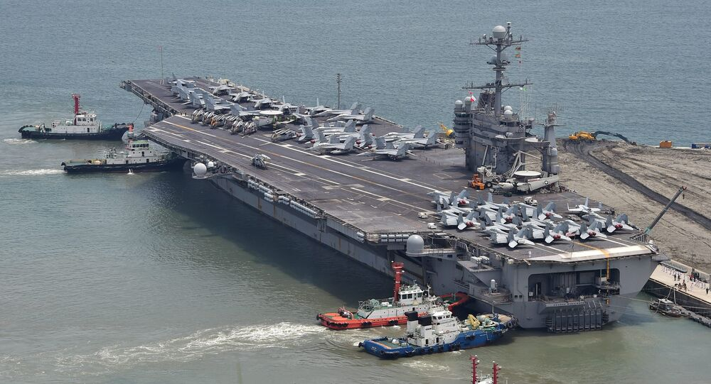 The US nuclear powered aircraft carrier USS George Washington. File photo