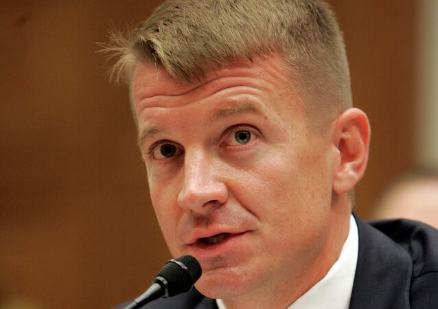 Blackwater USA founder Erik Prince, testifies on Capitol Hill in Washington, Tuesday, Oct. 2, 2007, before the House Oversight Committee hearing examining the mission and performance of the private military contractor Blackwater in Iraq and Afghanistan.