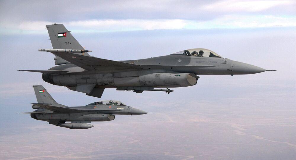 Royal Jordanian Air Force F-16 Fighting Falcon aircraft fighter pilots