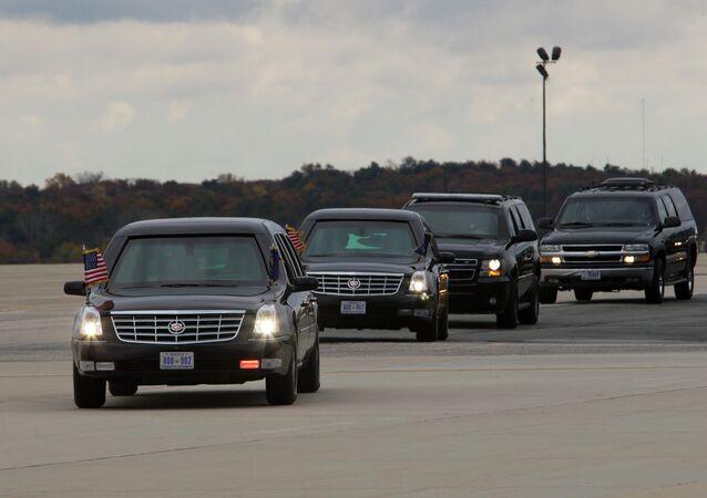 Presidential motorcade.