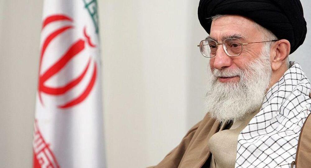 Iran's Supreme Leader Ayatollah Khomenei criticizes the U.S. on Twitter.
