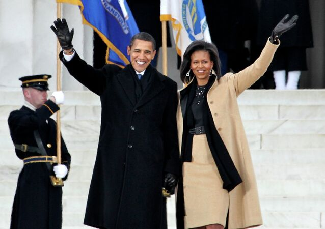 Barack and Michelle Obama in Washington.