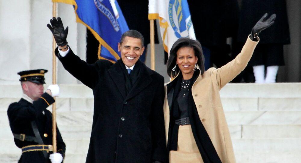 Barack and Michelle Obama in Washington.