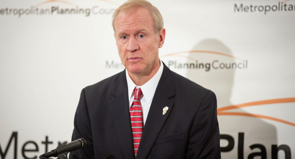 Bruce Rauner at the Metropolitan Planning Council's Aug. 28, 2014 Annual Luncheon.