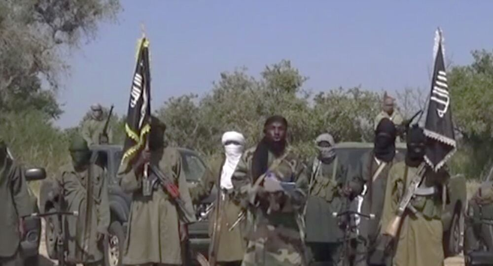 Image taken from video by Nigeria's Boko Haram terrorist network