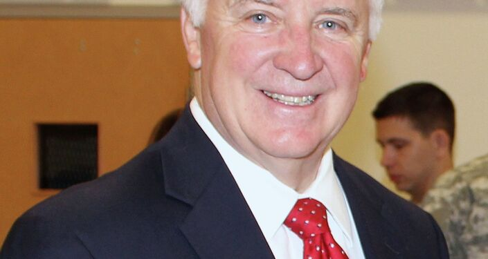 Tom Corbett, a member of the Republican party, is the 46th governor in Pennsylvania. His tenure ends in January. Democratic Governor-elect Tom Wolf will be inaugurated on January 20.