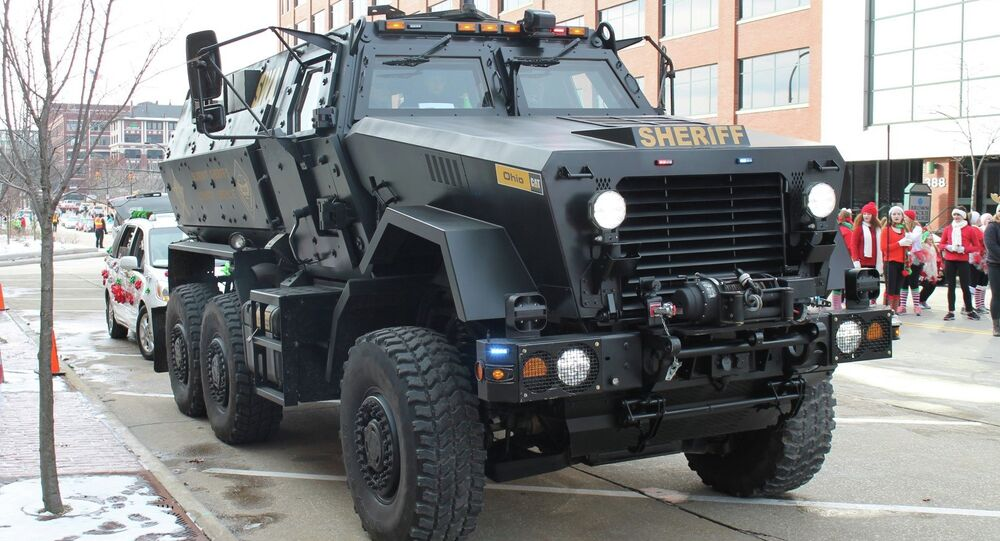 A Tennessee lawmaker has introduced a bill that would prohibit state and local law enforcement agencies from owning or using military equipment, such as this mine-resistant ambush-protected vehicle.