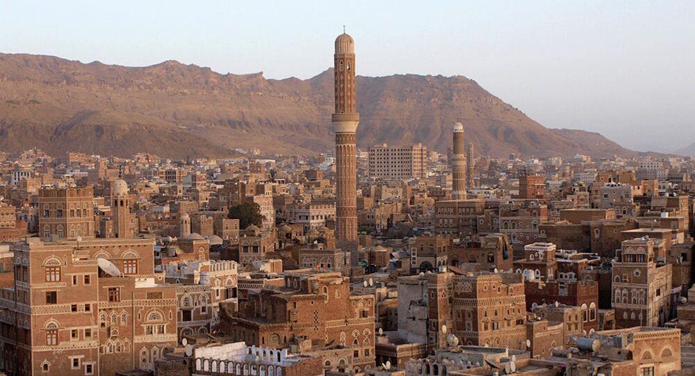 Ghumdan Palace in Sana'a. Yemen